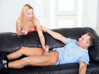 Babysitter chick Zoe Parker gets fucked by her employers huge hard cock