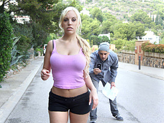 Blonde latina bombshell Blondie Fesser gets fucked with big cock